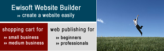 Ewisoft Website Builder. Create a website easily. Shopping cart for small business. Web publishing for beginners.
